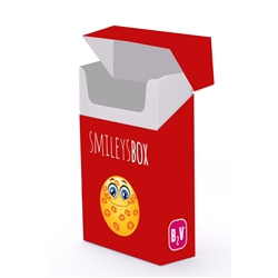 BOX SMILEY VERMELHA - BOXSMILEVE